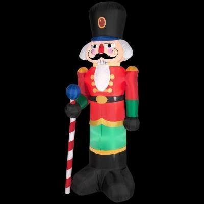6.5 Tall Christmas Red Lighted Nutcracker LED Airblown Inflatable By Gemmy Outdoor Yard Decoration by Gemmy