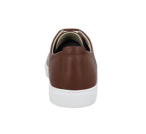 Armani Jeans chaussures baskets sneakers homme en cuir marron Marron