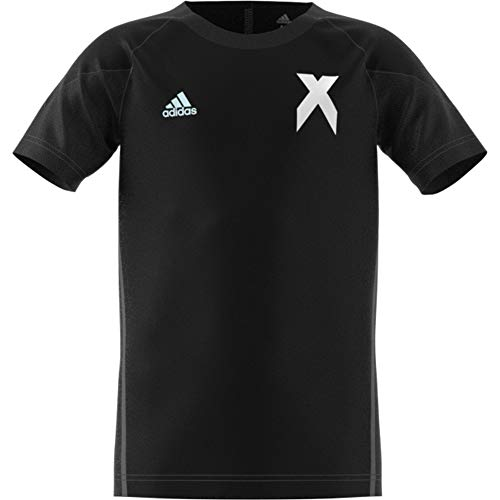 Nike Jungen Athletic Shirt (adidas Jungen X Kurzarm Trikot, Black/White, 164)