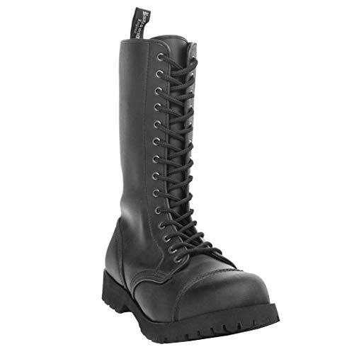 Boots & Braces 14Agujeros Vegetarian vegi Negro, unsi Sex Adulto Botas, 601402, Color Negro, Talla...