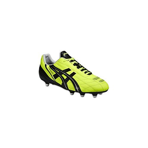Chaussures de Foot ASICS TIGREOR ST PJ409 YELLOW BLACK SILVER flash yellow/black/silver