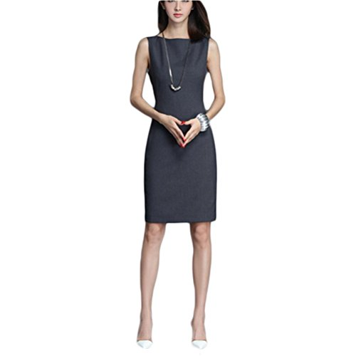 Robe de travail robe sans manche - gris M