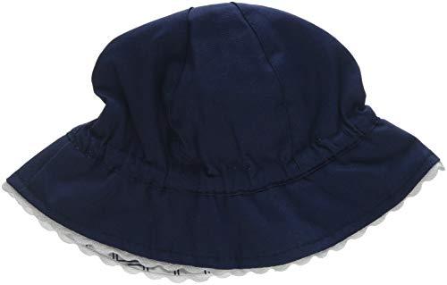 Chicco Baby-Mädchen Sonnenhut Cappello Reversibile Blau (Bianco E Blu 038) Large (Herstellergröße: 048)