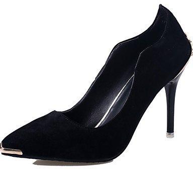 Moda Donna Sandali Sexy donna tacchi Primavera / Estate / Autunno tacchi / Punta partito in pelle e la sera abito / Stiletto Heel punta metallica Black