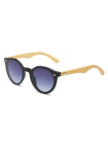 AMEXI Gafas de Sol Polarizadas Hombre y Mujere, UV400 Protection, Gafas Ligeras con Patillas de Madera (Patillas de Bambú)
