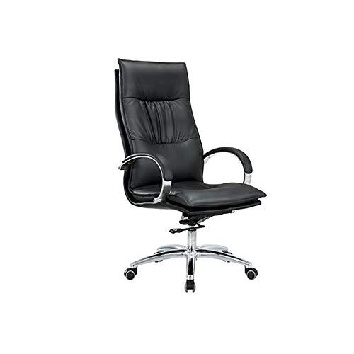 YGB Sipi Büro Computer Schreibtisch Stuhl Höhenverstellbar Pu-Leder Swivel Executive Bürostuhl Komfortable Home High Back (Braun), Black -