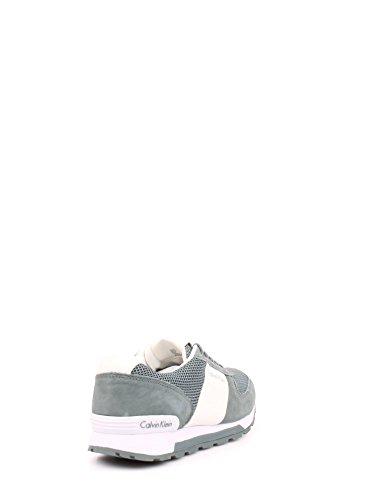 Calvin Klein Dusty Mesh/washed nubuck/Smoot, Chaussures de gymnastique homme - Verde Grigio