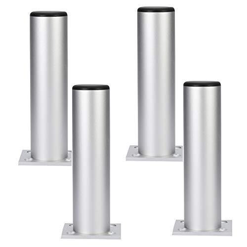 Aluminium Frame Sofa (Furniture legs 4* Metall Verstellbare Beine FüR Tisch, Bett Und Sofa, MöBelkabinett Fuß Beine FüßE UnterstüTzung/Heavy Duty Easy Install Bett Center Frame LamellenstüTzbein LDFZ)