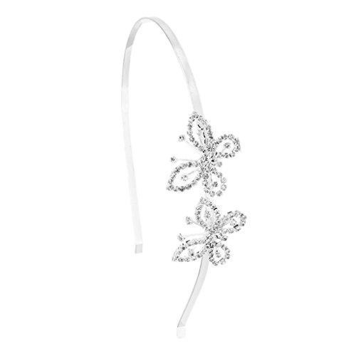 Sharplace Haarschmuck Haarreif Hochzeit Haarzusätze mit Schmetterling