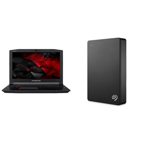 Acer Predator 15.6-Inch Notebook (Intel Core i7-7700HQ Processor, 16 GB RAM, 1 TB HDD, 256 GB SSD, NVIDIA GeForce GTX 1050Ti, Windows 10) + 4TB Seagate Backup Plus External Hard Drive