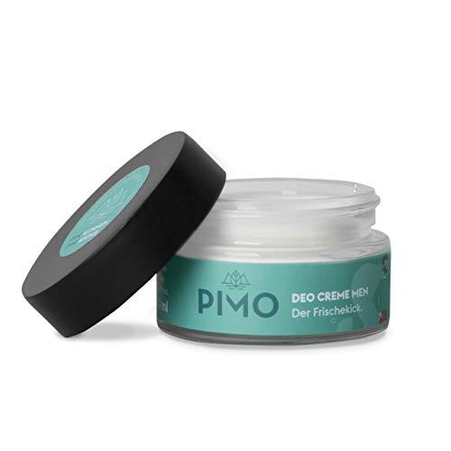PIMO Deo Creme - ohne Aluminium - ohne Alkohol - 100% Schutz - Kakaobutter - Mandelöl - Sheabutter - Vegan - 50 ml - Glastiegel - Deocreme - Hergestellt in Österreich