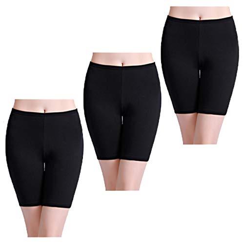 wirarpa Unterhosen Boxershorts Damen Hoher Bund Baumwolle Lange Radlerhose Unterwäsche Schwarz Größe S -