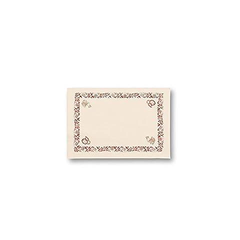 Home Sets de table, lot de 250pièces, papier, blanc/marron, 40x 30cm