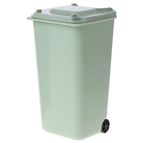 kauf Müll Eimer Bunte Mülleimer und Hohe Qualität Recycling Mini Lagerplatz Stifthalter für Haus Oder im Freien (Grün) ()