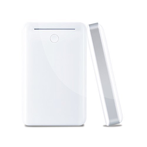 8400mAh Dual USB Portable Charger External Battery Power Bank with LED light For iPhone 6 Plus 5S iPad Mini Samsung Galaxy S6 edge S5 S4 S3 Note 4 HTC M9 Sony Most 5V Smart phones and Tablets (White)  available at amazon for Rs.2838