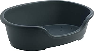 Do Not Disturb Plastic Dog Bed, 80 cm, Black from SHAZO