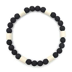 EM-Keramik Halsband für Hunde Schutz Halsband Schmuckhalsband mit Lavaperlen, handgemachter wetterfester natürlicher…