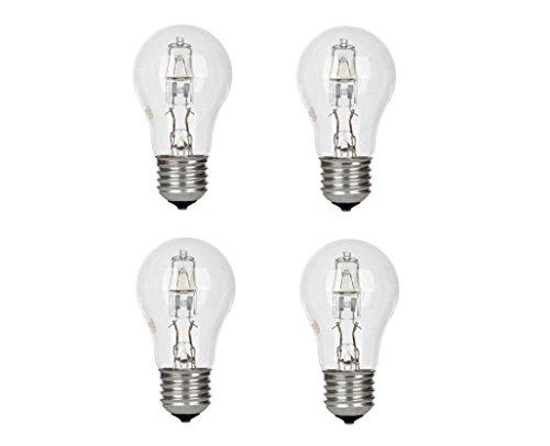 4 x GE Lighting Halogen Glühlampe Glühbirne 42W = 55W E27 2800K Warm White630lm -