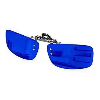 ENEM Day Vision Polarized Clip-on Flip-up Driving Plastic Men's Sunglasses with Mirror Blue Finish