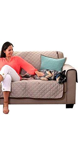 Sofa Saver Sofaüberwurf 3 Sitzer bekannt aus dem TV, doppelseitig braun/beige, wasserdicht und kratzfest. Perfekt für Tiere, Kinder und Ehemänner die auf dem Sofa essen