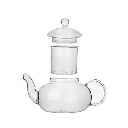 Infuser Kleine Mit Glas-teekanne (ESYN Hitzebeständige 400ml klare Glas Teekanne mit Infuser)