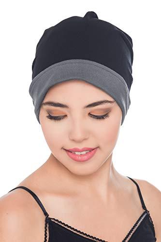 Deresina Headwear Reversible Beanie (Schwarz-Grau)