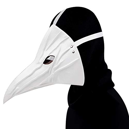WYQWAN Steampunk Pest Arzt Schnabel Maske, Halloween Kostüme Halloween Party Karneval Requisiten Geschenke,Weiß (Schnabel Arzt Kostüm)