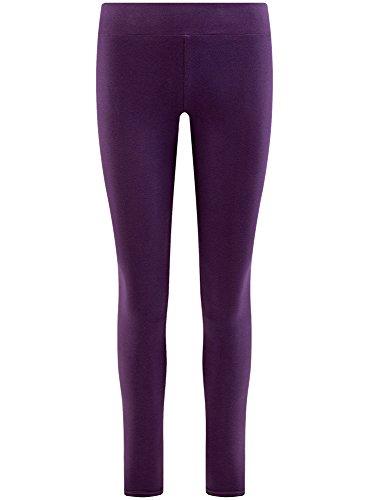 oodji Ultra Damen Jersey-Leggings Basic Violett (8800N)