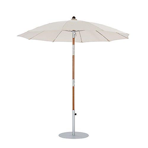GARPA Toscana Schirm 2,20 m rund, Elfenbein, Holz-Mast