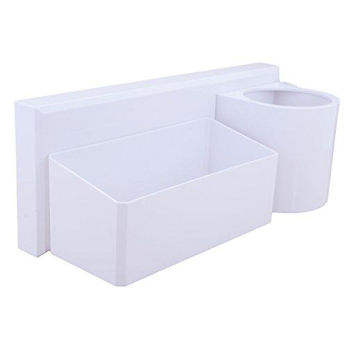 okomatch Wand montiert Regal Mehrzweck selbstklebend Saugnapf Kunststoff Storage Rack/Floating, für Badezimmer/Küche/Dusche/Parlor/Office–kein Bohrer/Nail, plastik, #2(Holder), S