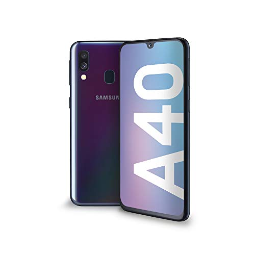 SAMSUNG A40, Smartphone, LTE, Android 9 (Pie), Capacité: 512 GB, écran SuperAmoled FHD+, 438 PPI, 16 M Colori 5.9 Pouces, Camera 16+5 MP, AF, flashLED, Zoom 4X, HDR, Black [Italia]
