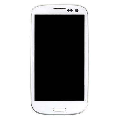 Reemplazo i9300 LCD 4.7 Pulgadas LCD HH para Samsung Galaxy S3 i9301 i9305 i747 i535 Pantalla LCD con Toque con el Marco 1pcs (I747, Blanco)