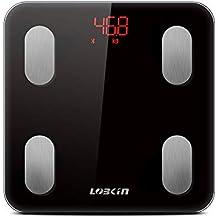 LOBKIN Báscula Bluetooth con análisis corporal: Peso, grasa corporal BMI, masa muscular,