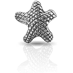 Andante-Stones Plata de Ley 925Bead * * Estrella de mar Antique * * Bola Element para European Beads Módulo de Pulsera + Traumhandel