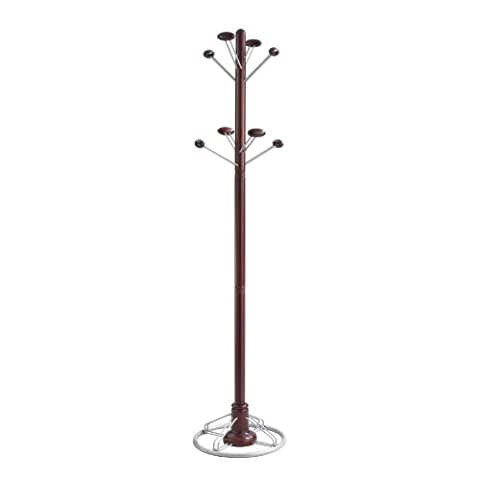Safco Products 4240MH Modern Costumer Coat Rack Tree, Mahogany