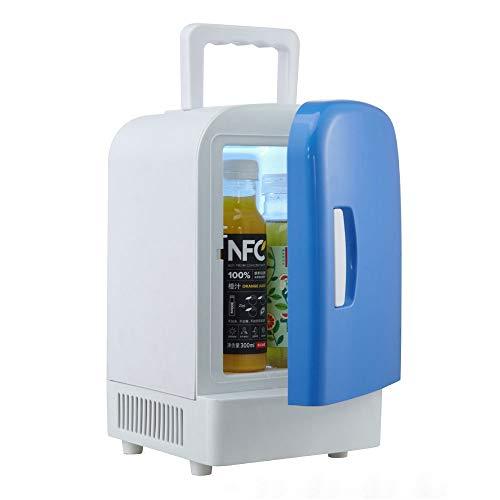 Mini Car Kühlbox Mini tragbarer kompakter persönlicher Kühlschrank, kühlt und heizt, 4 Liter Volumen, kühlt 6 12 Unzen Dosen, 100% freonfrei und umweltfreundlich, inklusive Stecker für die Steckdose u -