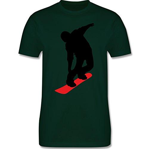 Wintersport - Snowboard Brettl - Herren Premium T-Shirt Dunkelgrün
