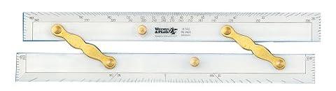 Weems & Plath Marine Navigation Parallel Ruler (Brass Arms, 15-Inch)