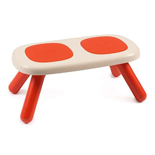 Smoby 880303 Kid Sitzbank rot, Design Kinder-Sitzbank, Kinder-Sitzecke aus Kunststoff für Kinderzimmer oder passend zu Smoby Spielhäusern, Made in France, rot - Outdoor Sitzbank Rot,