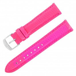 Michele ms18aa03069518–15mm Rosa Lizard Leder Damen-Armbanduhr Gurt mit Schnalle