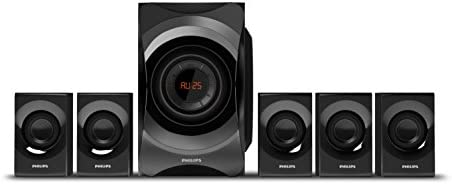 Philips SPA8000B/94 5.1 Channel Multimedia Speakers System (Black)