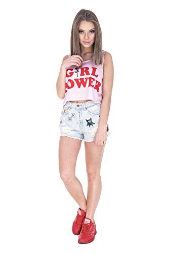 Fringoo - Canotta - Top -  donna Girl Power