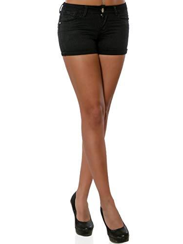ot-Pants Kurze Sommer Hose DA 15988 Farbe Schwarz Größe XL / 42 ()