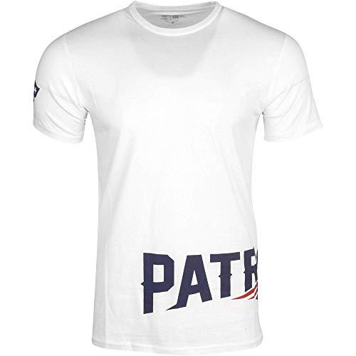 New Era NFL Wrap Around Tee Herren New England Patriots Weiss, Größe:XXL