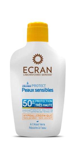 Schermo di protezione solare lozione spf 50 pelli sensibili
