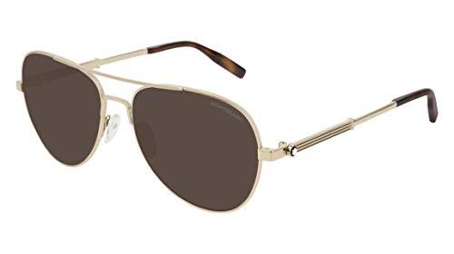 Sonnenbrillen Mont Blanc MB0027S Gold/Brown Herrenbrillen