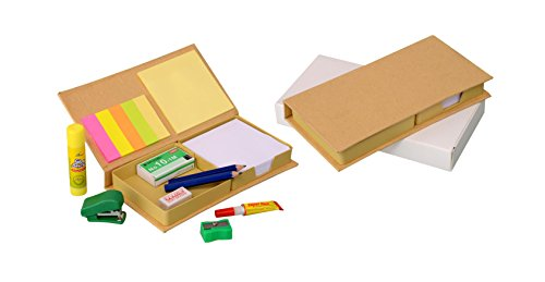 Fiestar Eco Stationary Set with Memo Pads - B56 Complete Stationary Set For Table with Writing Pad Sticky Memo Pad and Memo Strip  available at amazon for Rs.294