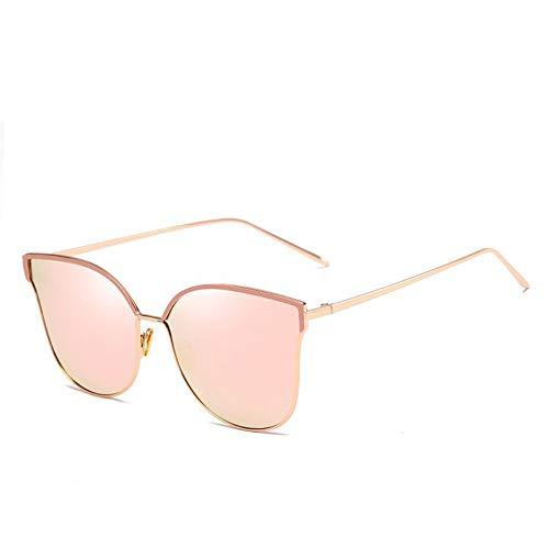 ROirEMJ Sonnenbrille, Frauen Uv-Schutz 400 Brillen, Der Persönlichkeit Katze Auge Geformt Metallrahmen Sonnenbrille, Weiblich Mode Vintage Fahren Auge Glas