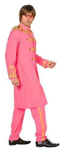 Karneval-Klamotten Sergeant Pepper Kostüm Herren Fasching Jacke Frack Uniform-Jacke mit Hose Uniform Herren-Kostüm pink Größe (Sergeant Pepper Kostüm)