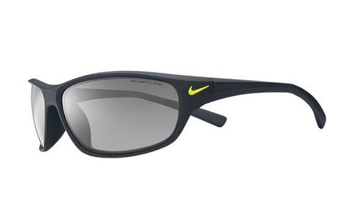 Nike Rabid Sunglasses, Matte Black, Grey with Silver Flash Lens image